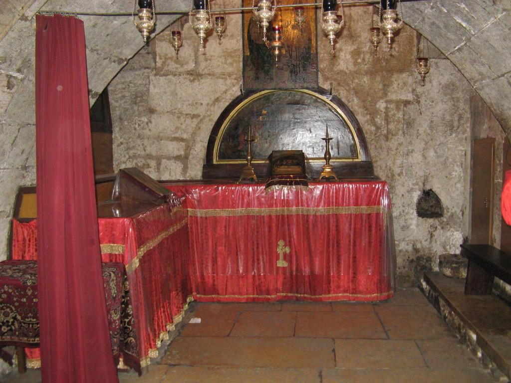 предел с гробницами Богоотец Иоакима и Анны, родителей Богородицы